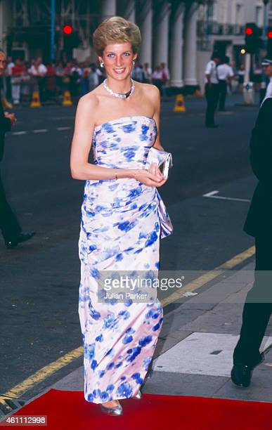 KINGDOM JULY 6 Diana Princess of Wales attends the Premiere of Farewell to the King in London's West End on July 6 1989 in London United Kingdom