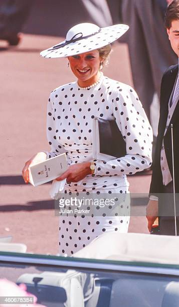 Diana Princess of Wales attends The Royal Ascot race meeting on June 15 1988 in Ascot United Kingdom