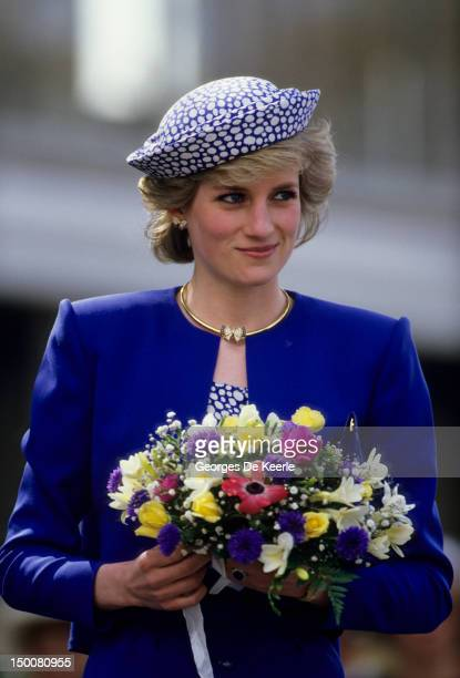 Diana Princess of Wales during a trip to Canada on May 3 1986
