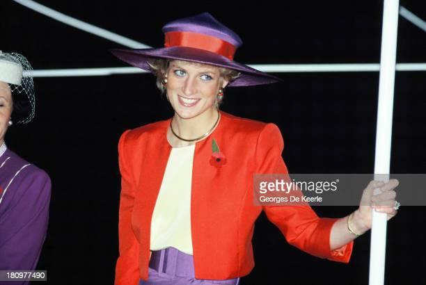Diana Princess of Wales during her official visit to Hong Kong on November 7 1989 in Hong Kong