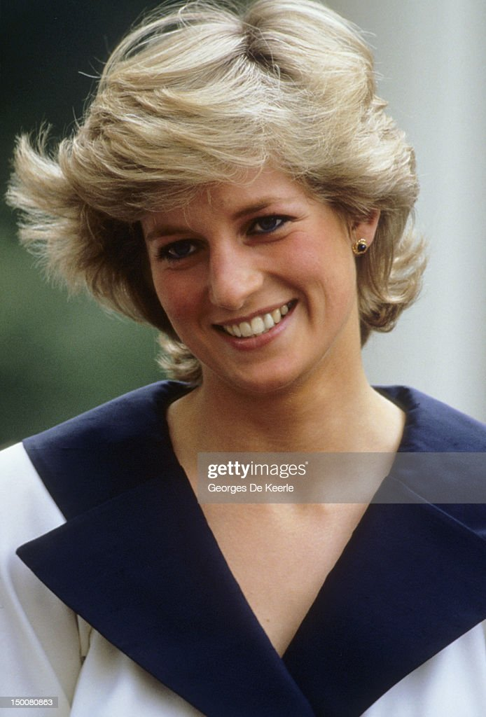 Diana, Princess of Wales (1961 -1997) during the Queen Mother's 87th birthday celebrations on August 4, 1987.