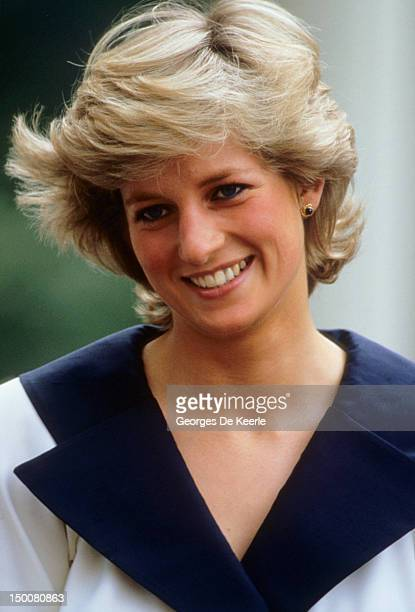 Diana Princess of Wales during the Queen Mother's 87th birthday celebrations on August 4 1987