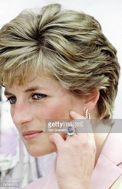 Diana Princess of Wales' engagement ring wedding ring watch and gold earrings