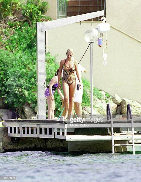 Diana Princess Of Wales is seen in St Tropez in the summer of 1997 shortly before Diana and boyfriend Dodi were killed in a car crash in Paris on...