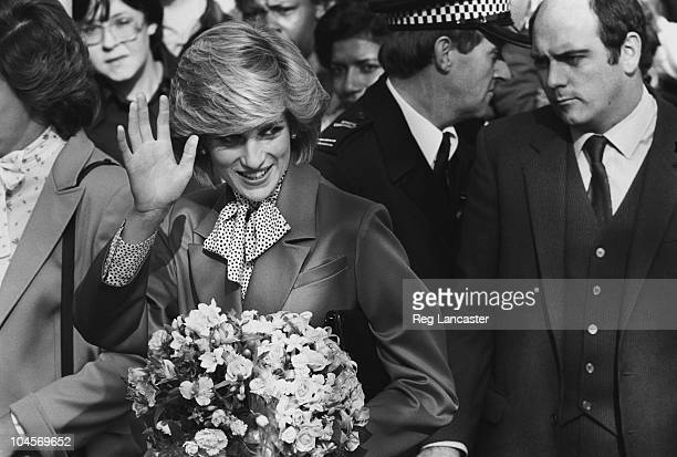 Diana Princess of Wales on a walkabout in Brixton South London on October 27 1983