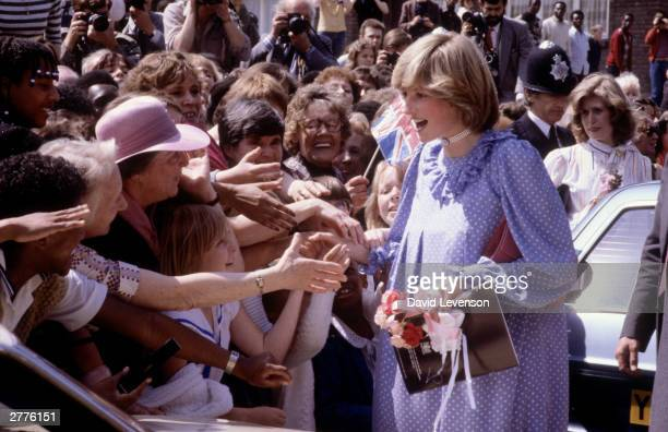 Diana Princess of Wales opens a community centre on May 18 1982 in Deptford London for her last official engagement before the birth of Prince William