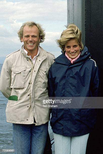 Diana Princess of Wales poses with cameraman Sebastian Rich July England