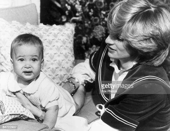 Diana Princess of Wales poses with her son Prince William at Kensington Palace 22nd December 1982