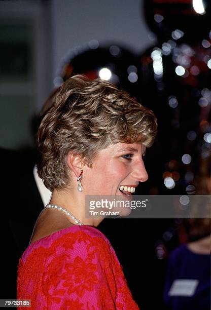 Diana Princess of Wales President of the Royal Marsden Hospital attending the 'Joy to the World' concert at the Royal Albert Hall