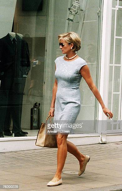 Diana Princess of Wales shopping on Bond Street London in 1997