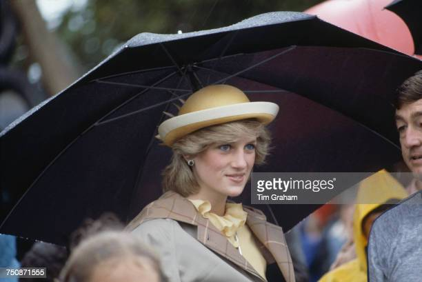 Diana Princess of Wales visits Papuke Boating Centre in Papuke North Shore Auckland April 1983