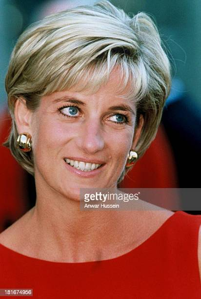 Diana Princess of Wales visits the Northwick Park Children's Centre in Harrow on July 21 1997 in London England