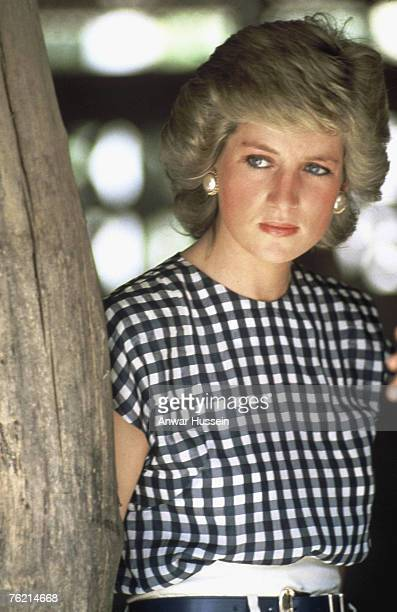 Princess Diana Princess of Wales poses in Thailand in 1988