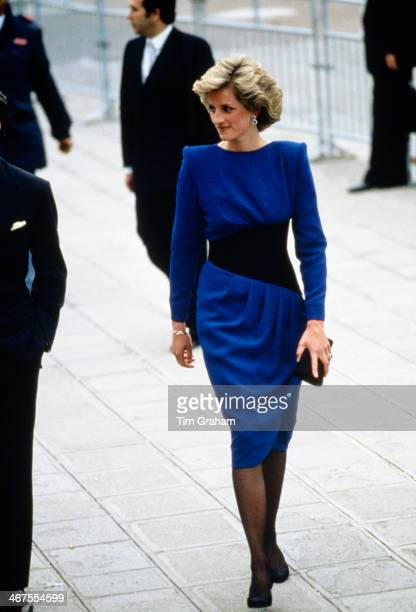 Diana Princess of Wales wearing a Bruce Oldfield dress during a visit to Venice 4th5th May 1985