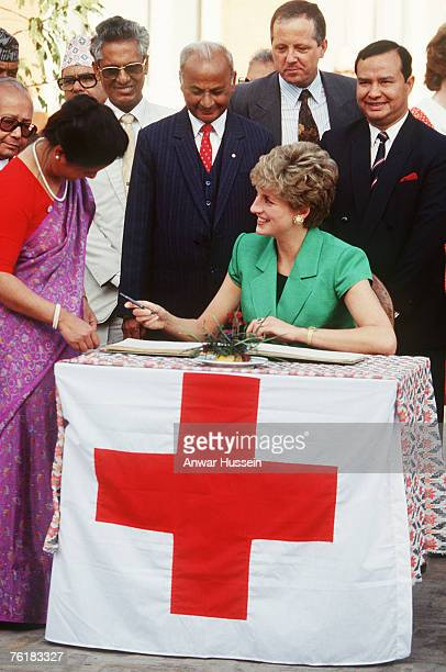 Diana Princess of Wales visits a Red Cross centre in Nepal in 1985 Her sons Prince William and Prince Harry also showed their appreciation of the...