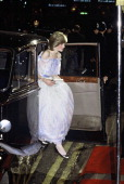 Diana Princess of Wales wearing a Belville Sassoon gown attends the film premiere of Richard Attenborough's 'Gandhi' at the Odeon Leicester Square on...