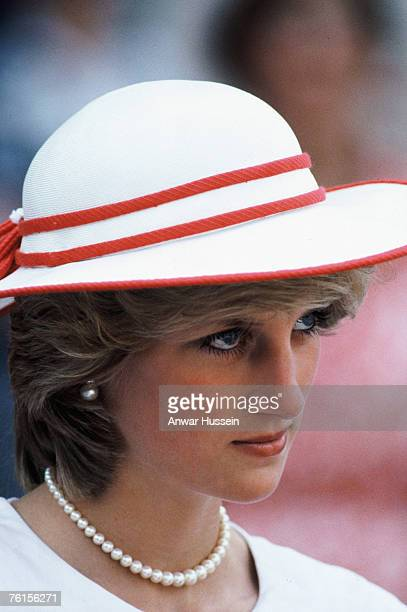 Princess Diana on her first visit to Canada in 1983 with Prince Charles