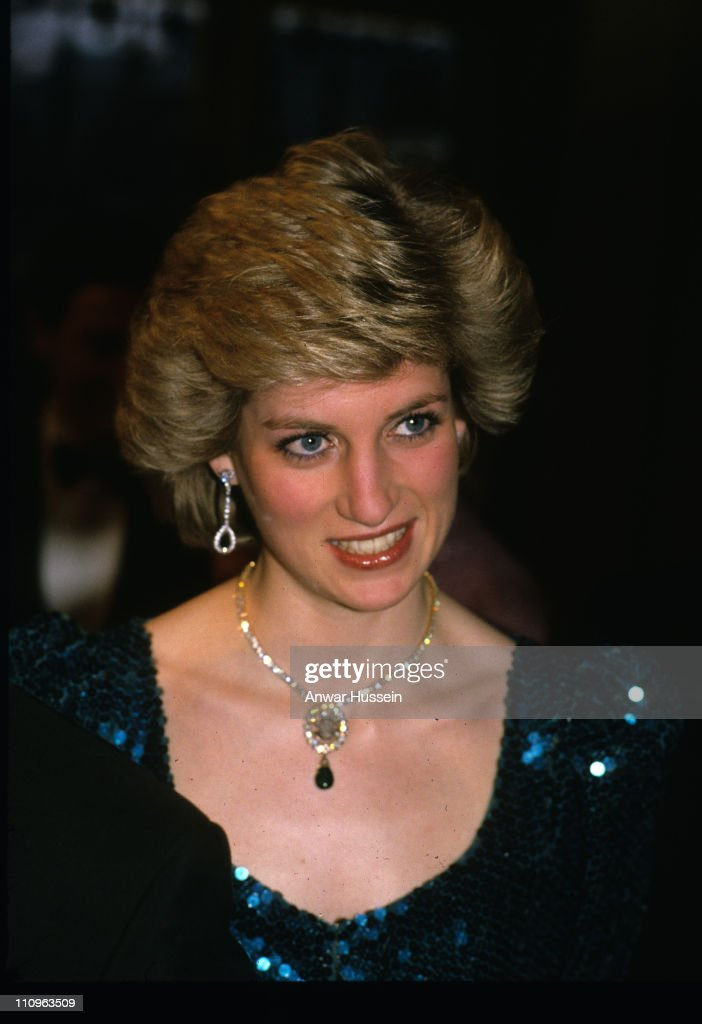 Diana, Princess of Wales in Vienna, 1986. <a gi-track='captionPersonalityLinkClicked' href=/galleries/search?phrase=Camilla+-+Duchess+of+Cornwall&family=editorial&specificpeople=158157 ng-click='$event.stopPropagation()'>Camilla</a>, Duchess of Cornwall wore a brooch made from the necklace to the film premiere of 'The History Boys' on October 2, 2006.