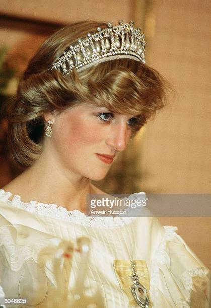 Diana Princess of Wales wears a tiara in New Zealand during April of 1983 Diana told of a lonely existence in her married life to Prince Charles in...