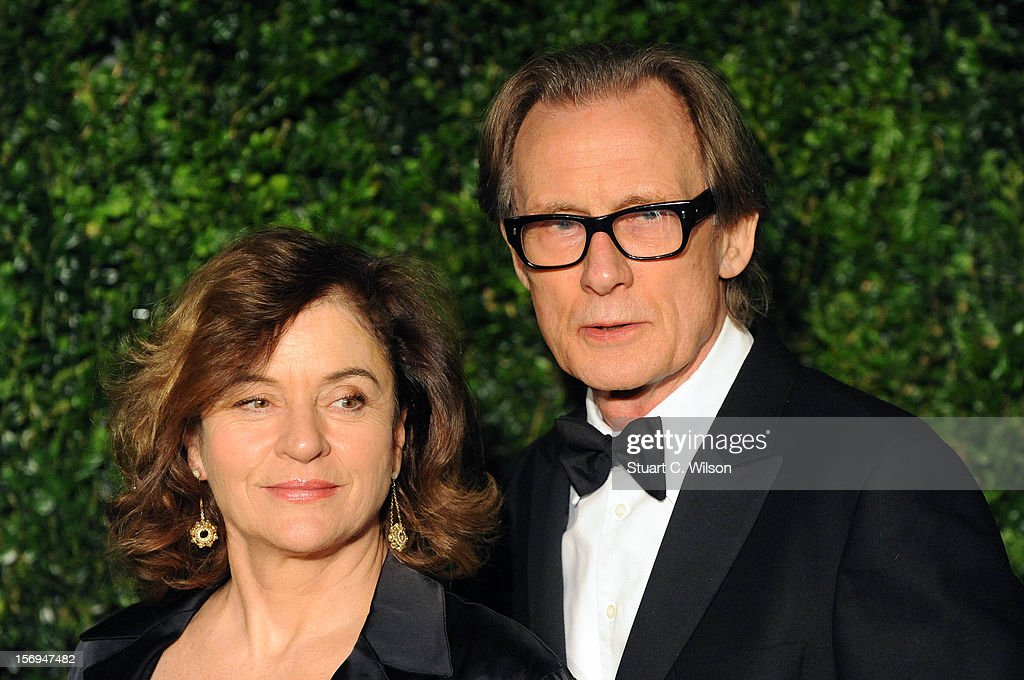 Diana Quick and Bill Nighy attend the 58th London Evening Standard Theatre Awards in association with Burberry on November 25, 2012 in London, England.