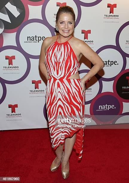 Diana Quijano arrives at Telemundo International Welcome Party during NATPE 2015 at Adrienne Arsht Center on January 20 2015 in Miami Florida