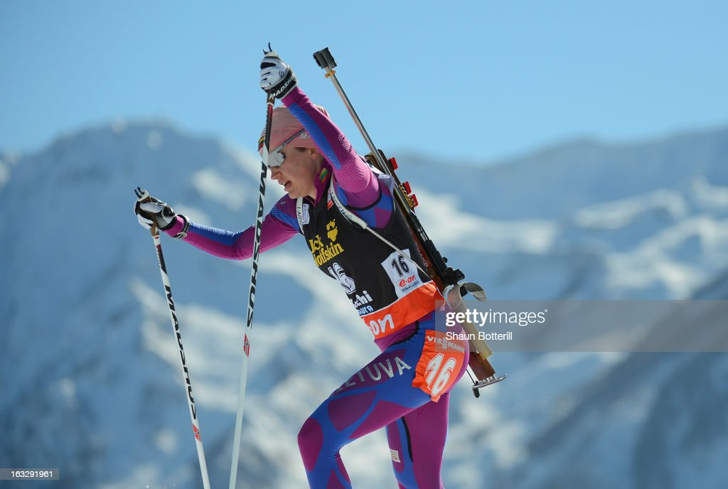 Diana Rasimoviciute of Lithuania competes in the Women's 15km Individual Event during the E. ON IBU Biathlon World Cup at the 'Laura' Biathlon & Ski Complex on March 7, 2013 in Sochi, Russia.