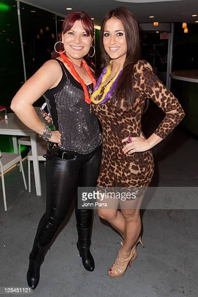 Diana Reyes and Jackie Guerrido attend birthday celebration for Rosa Gloria Chagoyan at La Lupita on October 14 2010 in Miami Florida