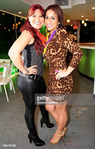 Diana Reyes and Jackie Guerrido attend the birthday celebration for Rosa Gloria Chagoyan at La Lupita on October 14 2010 in Miami Florida