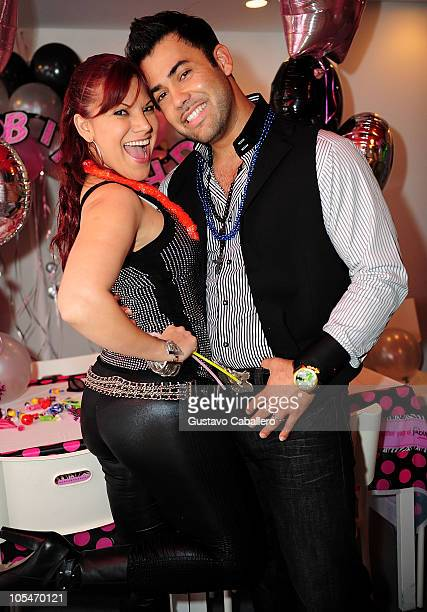 Diana Reyes and Rogelio Martínez attend birthday celebration for Rosa Gloria Chagoyan at La Lupita on October 14 2010 in Miami Florida