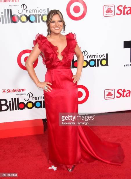 Diana Reyes arrives at 2009 Billboard Latin Music Awards at Bank United Center on April 23 2009 in Miami