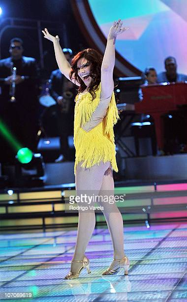 Diana Reyes dances the grand finale of Univision's Mira Quien Baila at Greenwich Studios on November 21 2010 in Miami Florida