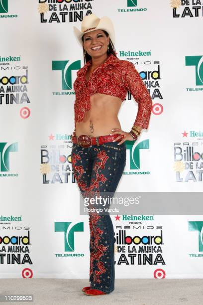 Diana Reyes during Billboard Latin Music Conference and Awards 2007 Press Room at Bank United Center in Coral Gables Florida United States
