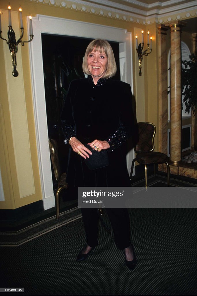 <a gi-track='captionPersonalityLinkClicked' href=/galleries/search?phrase=Diana+Rigg&family=editorial&specificpeople=206289 ng-click='$event.stopPropagation()'>Diana Rigg</a> during Sir John Mills 90th Birthday bash at London in London, United Kingdom.