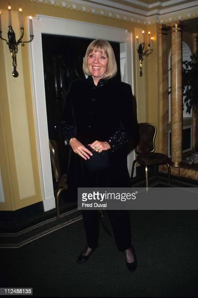 Diana Rigg during Sir John Mills 90th Birthday bash at London in London United Kingdom