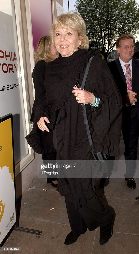 <a gi-track='captionPersonalityLinkClicked' href=/galleries/search?phrase=Diana+Rigg&family=editorial&specificpeople=206289 ng-click='$event.stopPropagation()'>Diana Rigg</a> during 'The Philidelphia Story' - Arrivals at The Old Vic in London, Great Britain.