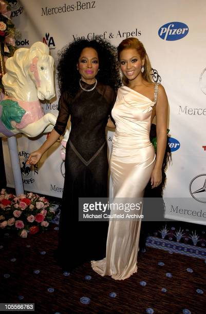 Diana Ross and Beyonce during Mercedes Benz Presents the 16th Annual Carousel Of Hope Gala VIP Reception at Beverly Hilton Hotel in Beverly Hills...