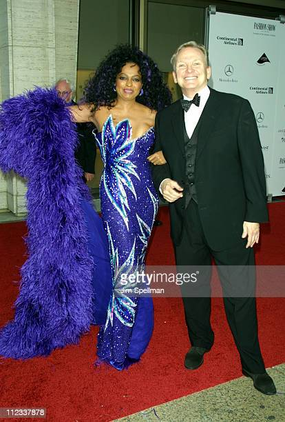 Diana Ross and Bob Mackie during The 20th Annual CFDA American Fashion Awards at Avery Fisher Hall Lincoln Center in New York City New York United...