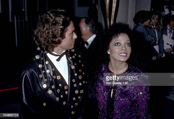 Diana Ross and Patrice Calmettes during 57th Annual Academy Awards at Dorothy Chandler Pavilion in Los Angeles California United States