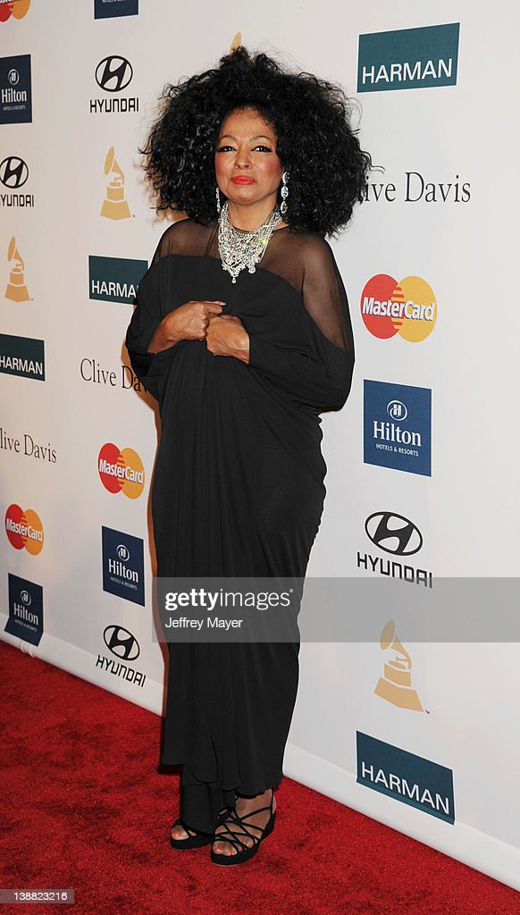 Diana Ross arrives at the Clive Davis and The Recording Academy's 2012 Pre-GRAMMY Gala and Salute to Industry Icons Honoring Richard Branson at The Beverly Hilton hotel on February 11, 2012 in Beverly Hills, California.
