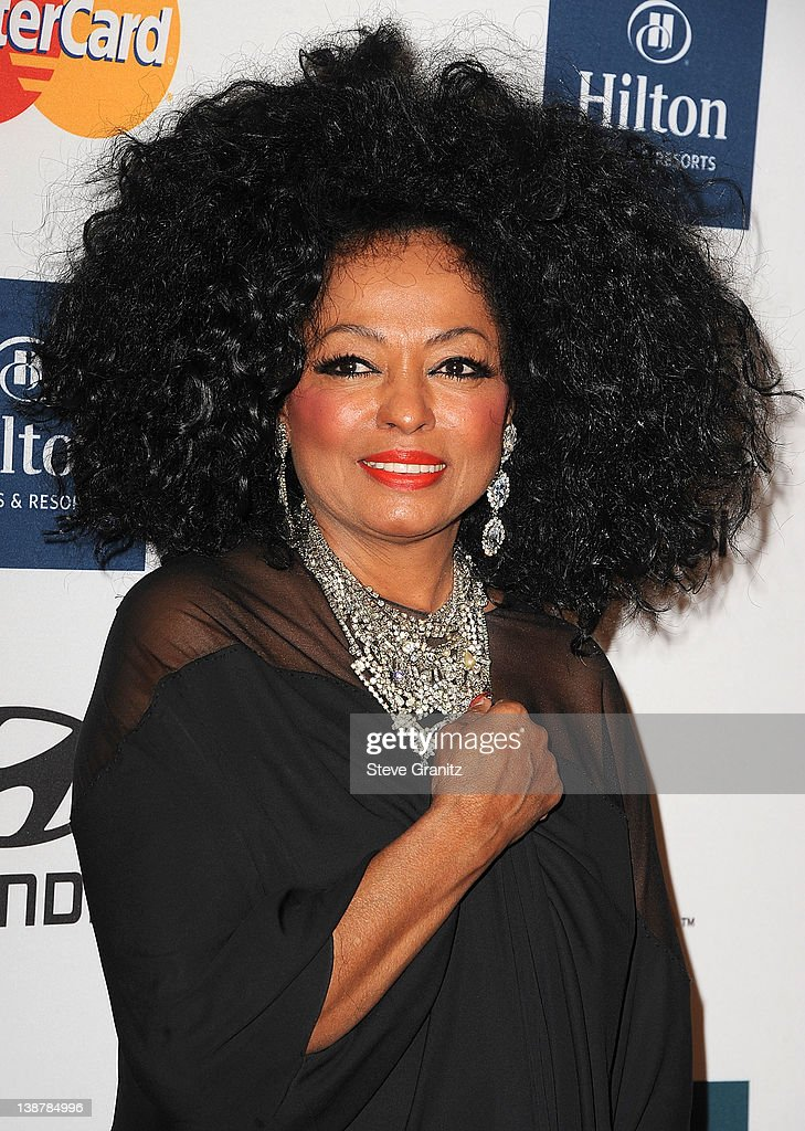 <a gi-track='captionPersonalityLinkClicked' href=/galleries/search?phrase=Diana+Ross&family=editorial&specificpeople=202836 ng-click='$event.stopPropagation()'>Diana Ross</a> arrives at The Recording Academy's 2012 Pre-GRAMMY Gala And Salute To Industry Icons Honoring Richard Branson at The Beverly Hilton hotel on February 11, 2012 in Beverly Hills, California.