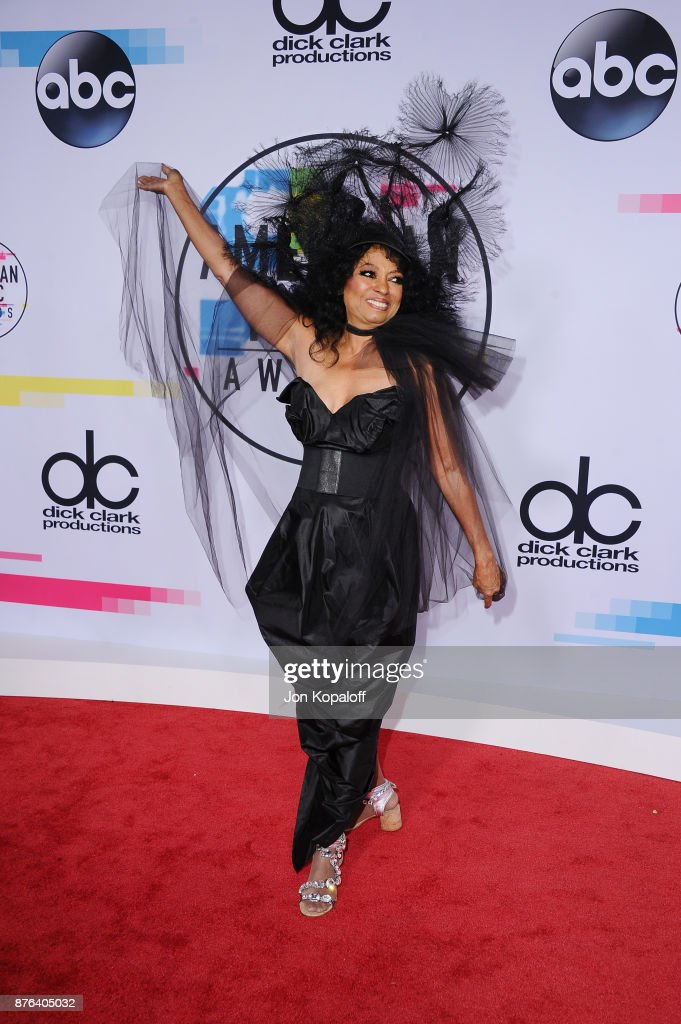 Black Attire at the American Music Awards