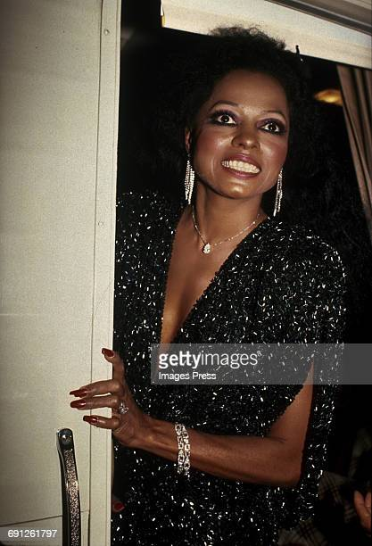Diana Ross attends the Grand Reopening of the Apollo Theater circa 1985 in New York City