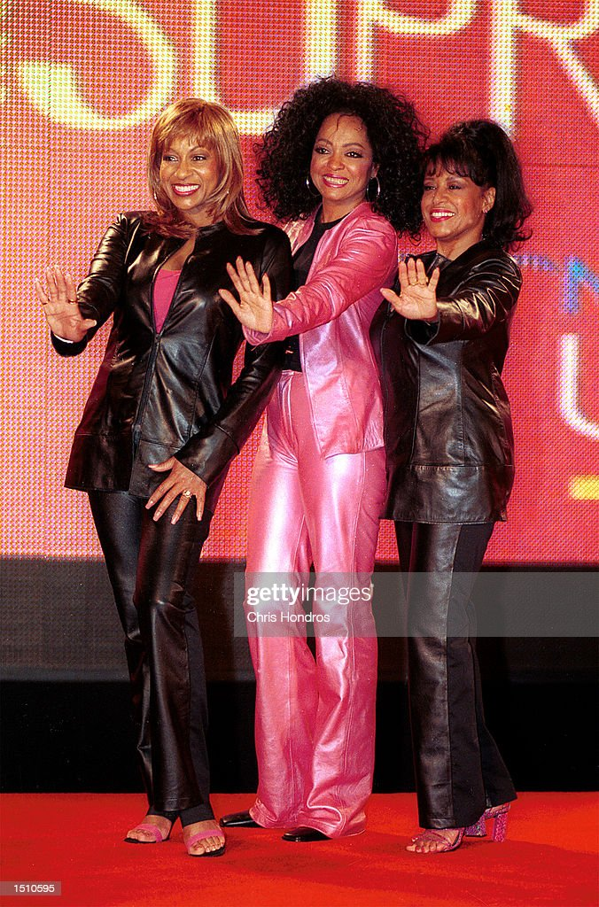 Diana Ross center and two former members of the Supremes Lynda Laurence and Scherrie Payne hold a news conference April 4 at Grand Central Terminal...