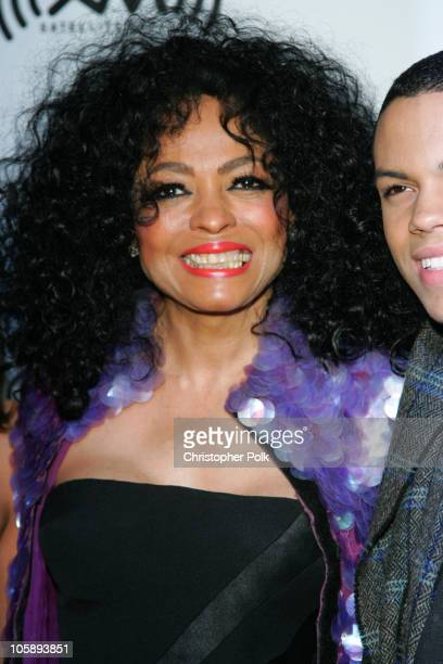 Diana Ross during 2006 Clive Davis PreGRAMMY Awards Party Arrivals at Beverly Hilton Hotel in Beverly Hills California United States