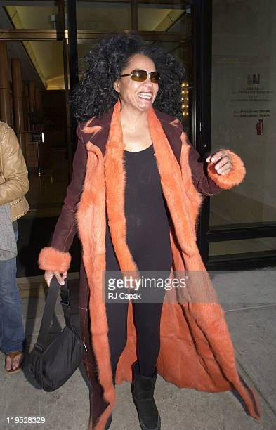 Diana Ross during Celebs on Madison Avenue at Madison Avenue in New York City New York United States