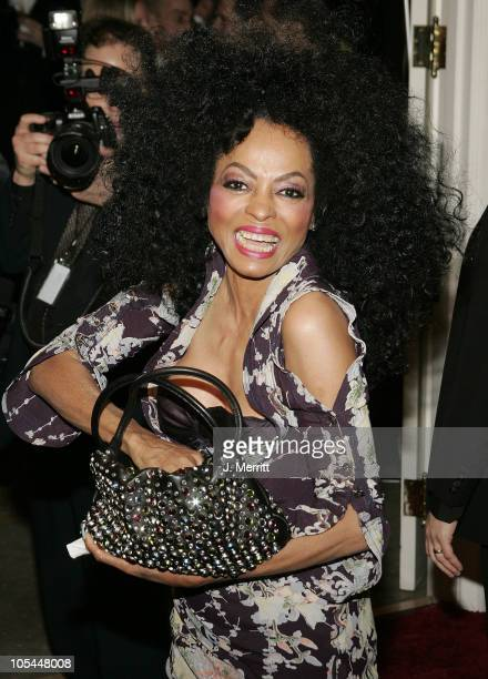 Diana Ross during Clive Davis 2005 PreGRAMMY Awards Party Arrivals at The Beverly Hills Hotel in Beverly Hills California United States