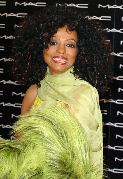 Diana Ross During Launches Her MAC Icon Collection At Beverly Hills Store