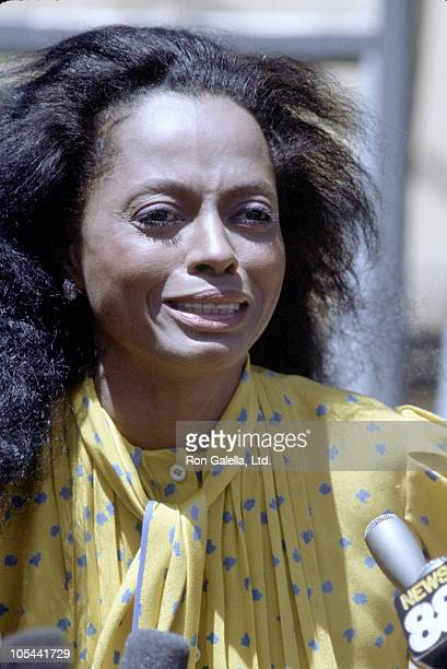 Diana Ross during Diana Ross Press Conference in Central Park July 22 1983 at Central Park in New York City New York United States