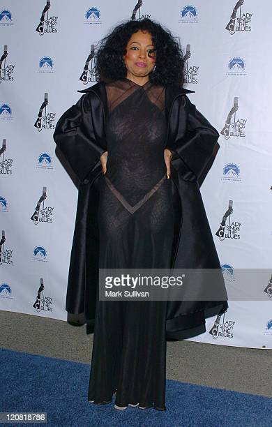 Diana Ross during 'Lady Sings the Blues' DVD Release Screening Arrivals at Paramount Theatre in Hollywood California United States