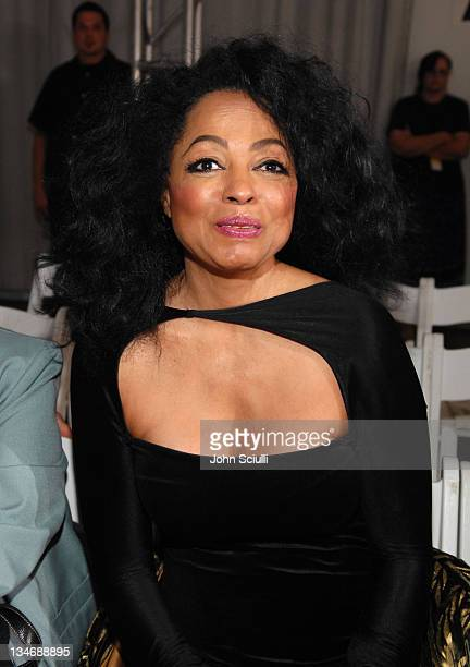 Diana Ross during MercedesBenz Spring 2007 LA Fashion Week at Smashbox Studios Meghan Front Row and Backstage at Smashbox Studios in Culver City...
